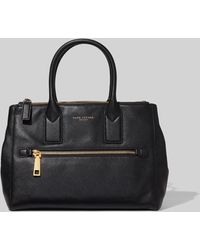 Marc Jacobs Medium Leather Tote - Black