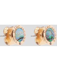 Marc Jacobs The Medallion Abalone Earrings - Metallic