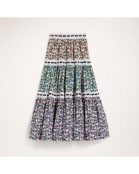Marc Jacobs Tiered Prairie Skirt With Lace Trim - Multicolor
