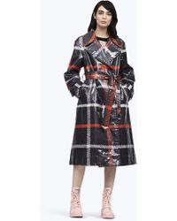 Marc Jacobs - Plaid Belted Trench - Lyst