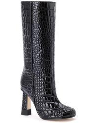 Marco De Vincenzo Croc-quilted Patent Eco-leather Boots - Black