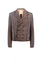 Marco De Vincenzo Checked Double-breasted Jacket - Multicolor