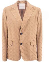 Marco De Vincenzo Single-breasted Jacket With Motif In Relief - Multicolor