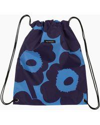 Marimekko Smart Sack Unikko Bag - Blue