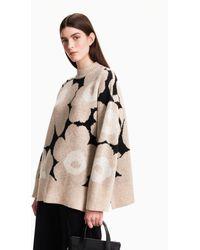 Marimekko Onnekas Unikko Knitted Pullover - Natural