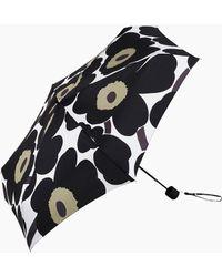 Marimekko Pieni Unikko Mini Manual Umbrella - Black