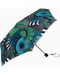 Marimekko Siirtolapuutarha Mini Manual Umbrella - Green