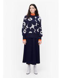 Marimekko Kietoa Unikko Knitted Pullover - Blue