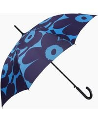 Marimekko Unikko Stick Umbrella - Blue
