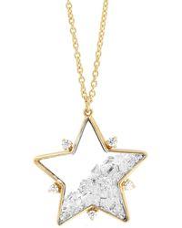 Moritz Glik Diamond Shaker Star Pendant Necklace - Metallic