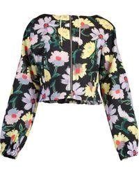 Marni Floral Print Jacket - Black