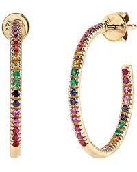 Sydney Evan - Rainbow Hoop Earrings - Lyst
