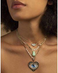 Lito Chiara Mother Of Pearl Scarab Necklace - Multicolour
