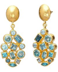 Gurhan Blue Topaz Cluster Earrings