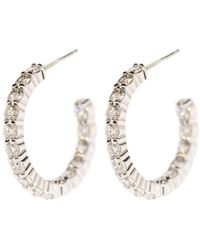 Kwiat Round Diamond Hoop Earrings - Multicolour
