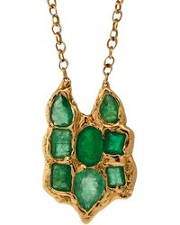 Lucifer Vir Honestus Emerald Owl Pendant Necklace - Green