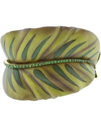 Silvia Furmanovich - Sculptural Botanical Marquetry Leaf Bracelet - Lyst