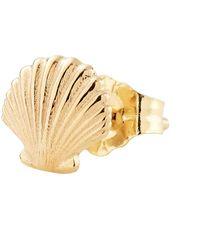 Alison Lou Seashell Single Stud - Metallic