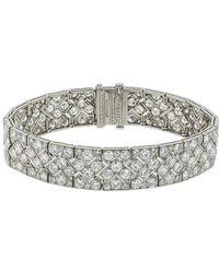 Fred Leighton Tiffany & Co Art Deco Diamond Zig Zag Bracelet - Metallic