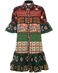 La DoubleJ Patchwork Choux Dress - Green