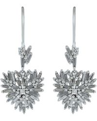 Suzanne Kalan Diamond Heart Drop Dangle Earrings - Multicolour