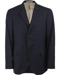 Brunello Cucinelli Navy Travel Blazer - Blue