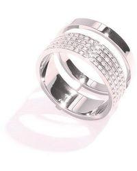 Repossi Berbere Module Pave Diamond Ring - Metallic