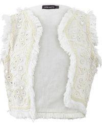 Antik Batik Marah Gilet Vest - White