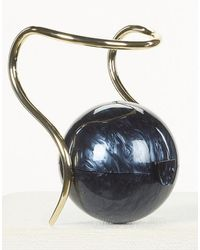 Cult Gaia Pearl Top Handle Bag - Black