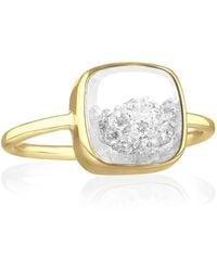 Moritz Glik Square Diamond Shaker Ring - Yellow Gold - Metallic
