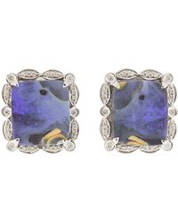 Dana Rebecca - Courtney Lauren Boulder Stud Earrings - Lyst