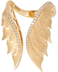 Stephen Webster - Magnipheasant Pave Diamond Feather Ring - Lyst