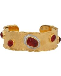 Victor Velyan - Fire Opal And Diamond Cuff - Lyst