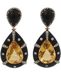 Silvia Furmanovich - Beryl And Ebony Wood Earrings - Lyst