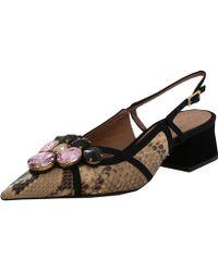 Marni Snakeskin Crystal-Embellished Slingback Court Shoes - Multicolour