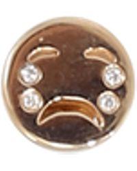 Alison Lou Diamond Tears Happy Face Stud - Multicolour