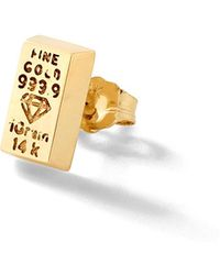 Alison Lou - Gold Bar Stud - Lyst