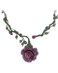 Wendy Yue - Rose Necklace - Lyst