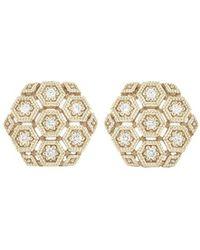Dana Rebecca - Kathrynn Lynn Diamond Stud Earrings - Lyst