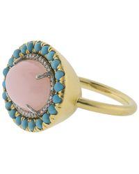 Irene Neuwirth Pink Opal Ring - Metallic