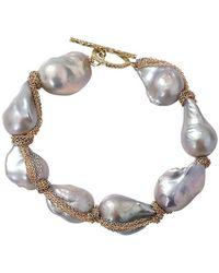 Jordan Alexander - Silver Baroque Pearl Bracelet - Lyst