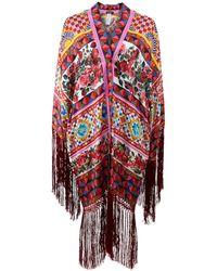 Dolce & Gabbana Silk Twill Mamba Kimono - Red