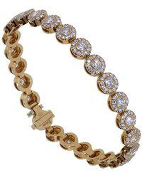 Inbar Round Diamond Tennis Bracelet - Metallic