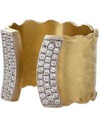 Jordan Alexander   Diamond Cuff Ring   Lyst