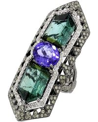 Wendy Yue - Tanzanite And Tourmaline Ring - Lyst