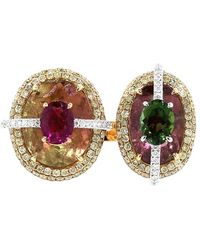 Wendy Yue - Tourmaline And Rubellite Ring - Lyst