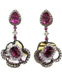 Wendy Yue | Tourmaline And Rubellite Earrings | Lyst