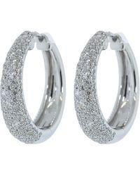 Kwiat Pave Diamond Cobblestone Hoop Earrings - Multicolor