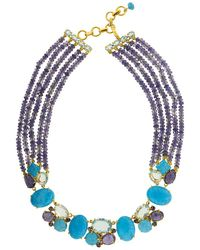 Bounkit Iolite Strand Set Necklace - Blue