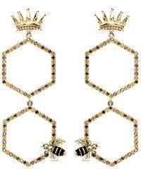 Alison Lou Queen Bee Drop Earring